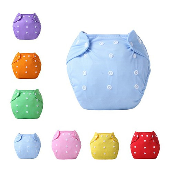 Hot Newbrons Baby Diapers Reusable Nappies Cloth Diaper Children Baby Cotton Washable Training Pants Waterproof Solid Color Panties Nappy