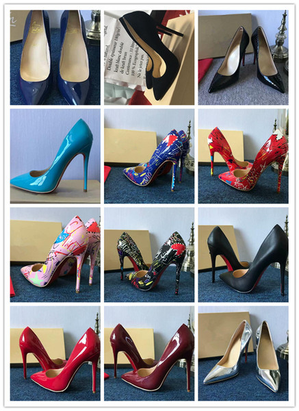 Free Shipping So Kate Styles Flat 8cm 10cm 12cm High Heels Shoes Red Bottom Nude Color Genuine Leather Point Toe Pumps Rubber Can be customi