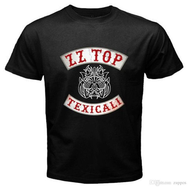 Yeni ZZ TOP TEXICALI Klasik Retro Rock Grubu erkek Siyah T-Shirt Boyut S 3XL Marka Giyim Hip-Hop Üst