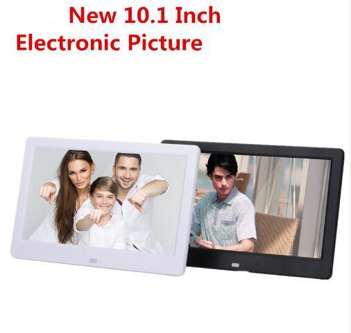 MOQ:1pcs 10.1 HD Digital Photo Frame Photo Mult-Media Player MP3 MP4 Alarm Clock For Gift