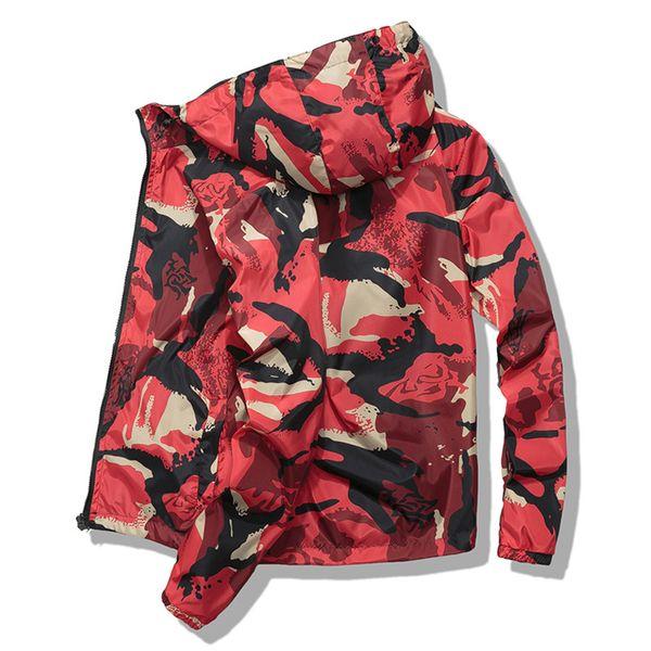 2018 autumn men camouflage hooded jacket youth boys casual hip hop jacket fashion couple coat streetwear waterproof windbreaker thumbnail