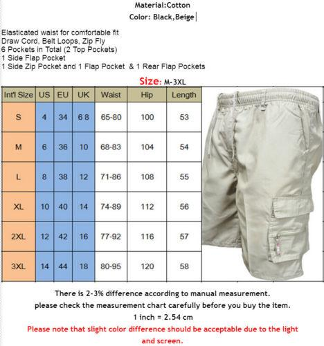 2018 New Fashion Hot Popular Men's Cargo Shorts Plain Army Combat Half Summer Work Casual Trousers