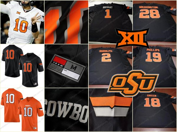 Custom Oklahoma State Cowboys Any Name Number Mens Youth Kids Womens White Orange Black College Personalized Football Jerseys S-3XL
