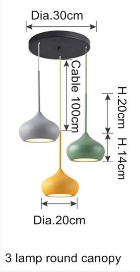 3 lamp round canopy