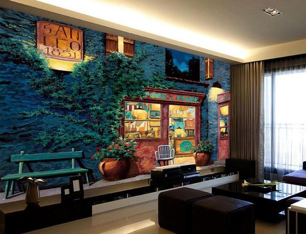 Großhandel Neue Chinesische 3D Tapete Wohnzimmer Architektur Blume Foto  Wandmalereien Drucken Silk Wasserdichte Tapeten Für Badezimmer Küche Zimmer  ...