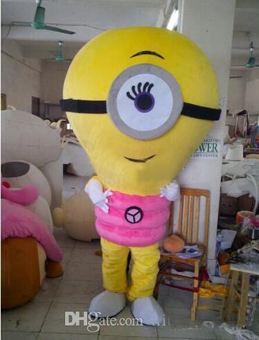 2018 nuova vendita calda EMS Alive rosa lampada lampadina globo luce elettrica costume della mascotte vestito operato