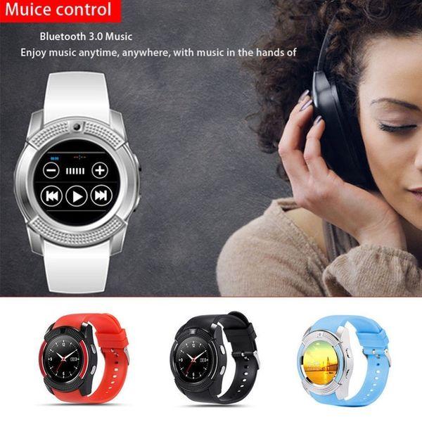 V8 смарт-часы Bluetooth смарт-часы с 1.22