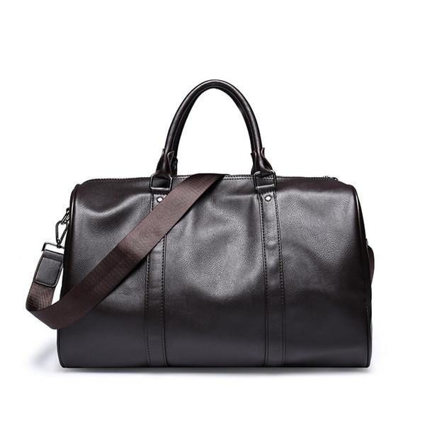 Hochwertige PU-Leder Herren Reisetaschen Große Kapazität Herren Messenger Bags Travel Duffle Handtaschen Herren Schulter Berchirly