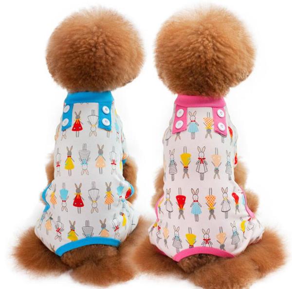 Pet cute cartoon Pajamas for Pet Dog Puppy Soft Cozy Warm Pets Jumpsuits Romper Sleep Clothes Costume