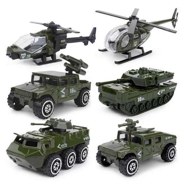 Explosive alloy kit 1:87 mini fire protection military police alloy car model children's pocket toys wholesale