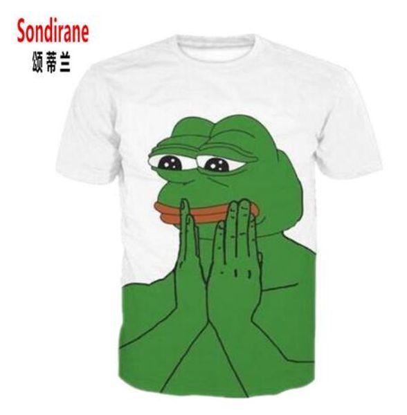 Sondirane Newest Fashion Womens/Mens Pepe Frog Funny 3D Print Casual T-Shirt Short Sleeve Summer Tops Design Comfortable Tees