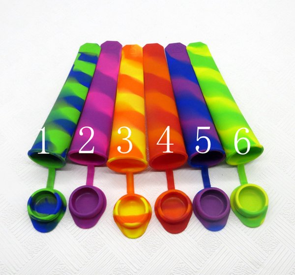 best selling Non-sticky Silicone Ice Mold Swirl Type Silicone Ice Pop Mold Push Up Ice Cream Lolly Pop For Popsicle DHL Fedex Free Shipping