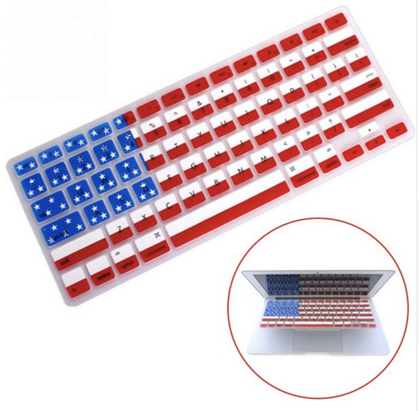 Горячая американский флаг кожи силиконовый протектор клавиатуры обложка фильм гвардии для Apple Macbook air 13 дюймов 15 дюймов pro 17 дюймов