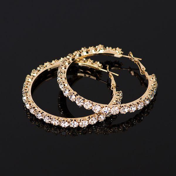 top popular YFJEWE 2020 New hot sale Crystal Rhinestone Earrings Women Gold Sliver Hoop Earrings Fashion Jewelry Earrings For Women #E029 2020