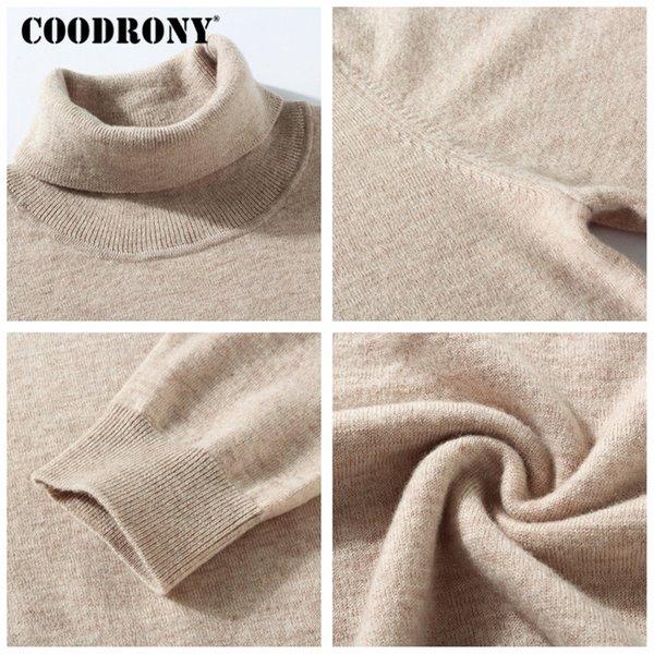Compre COODRONY Sweater Men 2018 Invierno Grueso Cálido 100% Merino ...