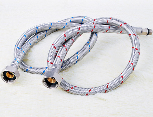 best selling 304 Stainless Steel Wire Single Head Braided Tube Cold And Hot Tap Water Hose 4 Fen Water Inlet