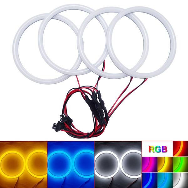 Auto Halo Rings Cotton Lights SMD LED Angel Eyes para BMW E30 / E32 / E34 DRL Light 4-Color # 4615