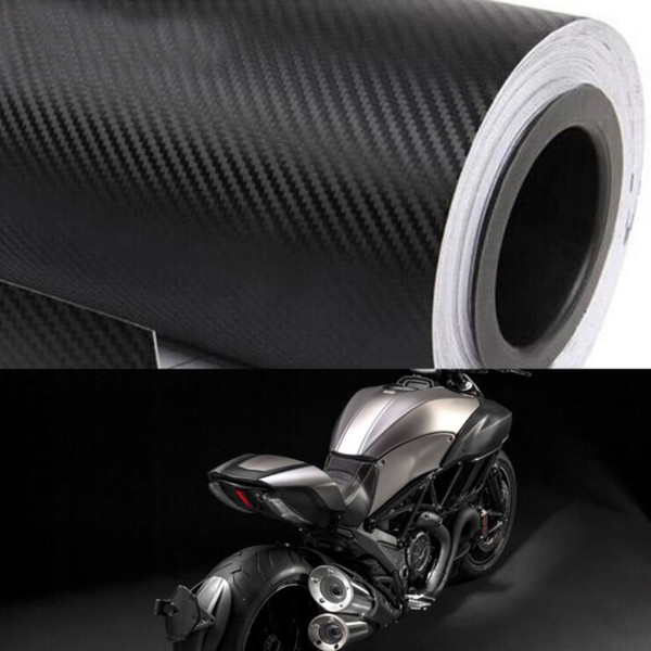 best selling 30x200cm Motorcycle 3D Carbon Fiber Vinyl Car Wrap Sheet Roll Film Stickers Decal Styling Auto Motorbike Motorcycle Accessories
