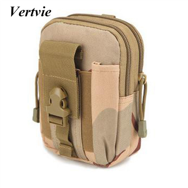 Vertvie Tactical Army Fan Sports Pocket Phone Bag 13x5.5x18cm Camping Army Pocket Bag Outdoor Sports Belt Mobile Phone 2018