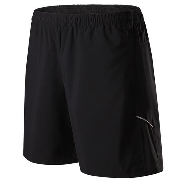 Shorts de course Marathon Gym Fitness Training Sport Fermeture Éclair Poche Quick Dry Homme