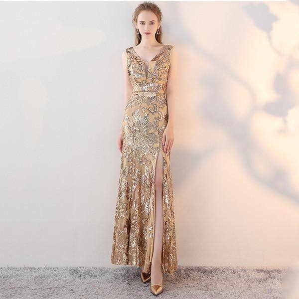 81c039b676e60bd RY017 Русалка вечернее платье 2018 роскошные золото серебро черный вечернее  платье блестки вечернее платье женские платья