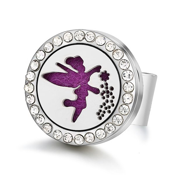 Beauty Fairy Magnetic 316L Stainless Steel Aromatherapy Diffuser Locket Open Rings Jewelry Free Size