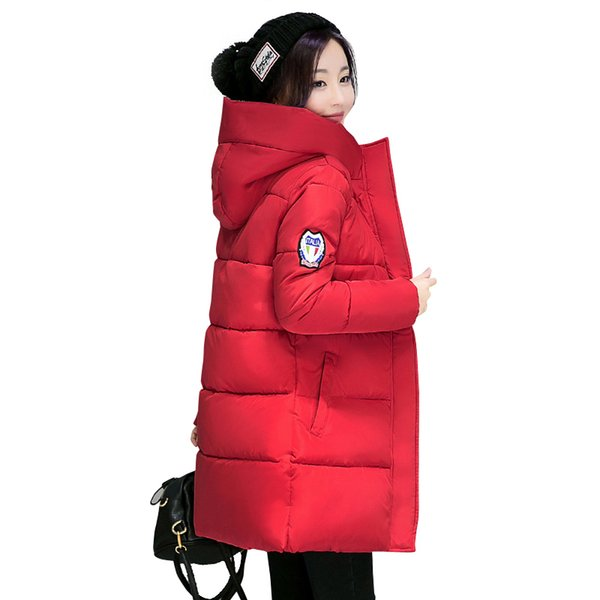 2018 New Long Parkas Female Women Winter Coat Thick Warm Cotton Hooded Jacket Womens Outerwear Parkas for Women Winter Outwear S18101505