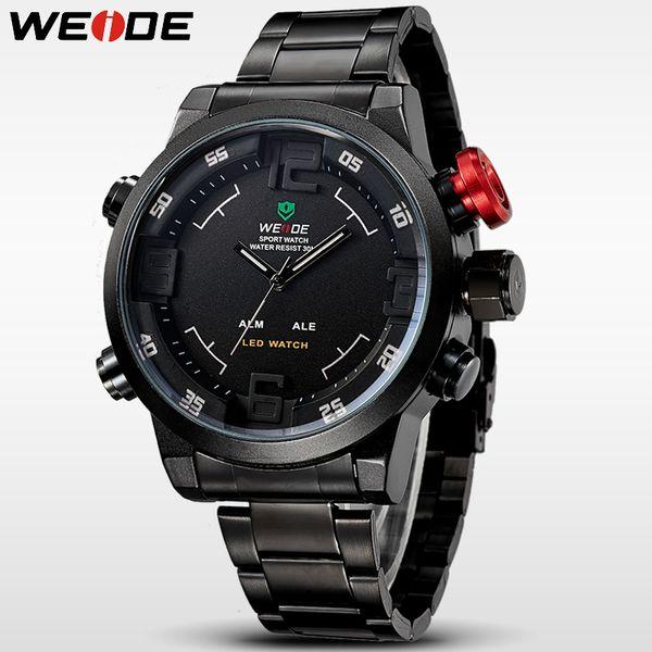 Watches Men Original Brand WEIDE WH2309 Stainless Steel Digital Watch Sports Wristwatch Led Quartz Military Wrist Watches Relogio