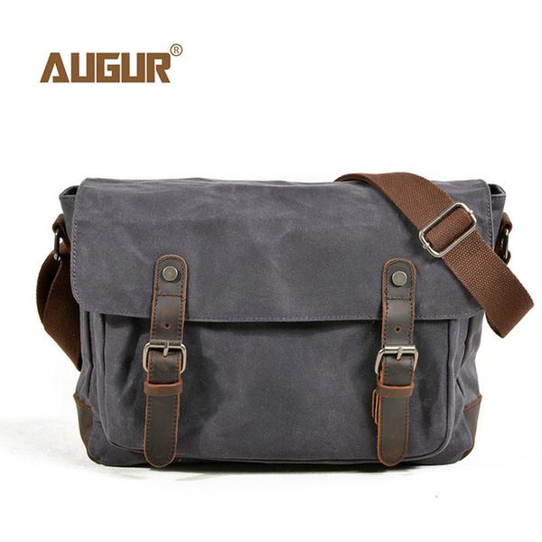 AUGUR New Men Bag Fashion Canvas Shoulder Bags For Mens Waterproof Functional Shoulder Messenger Bag Male Briefcase Crossbody