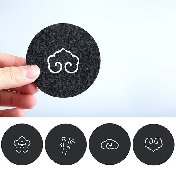7/8/9/12/14cm Felt Coaster Cup Mats Cartoon Pad Fabric Cup Mug Mat Coffee Tea Holder Home Decoration ZA6144