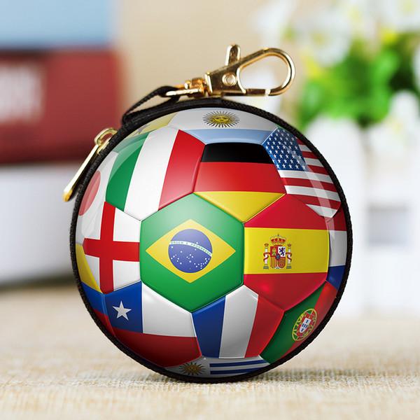 2018 World Cup Regalos Fútbol Juguetes Copa del Mundo Fútbol Tema Decoración Accesorios Fans Billetera Llavero