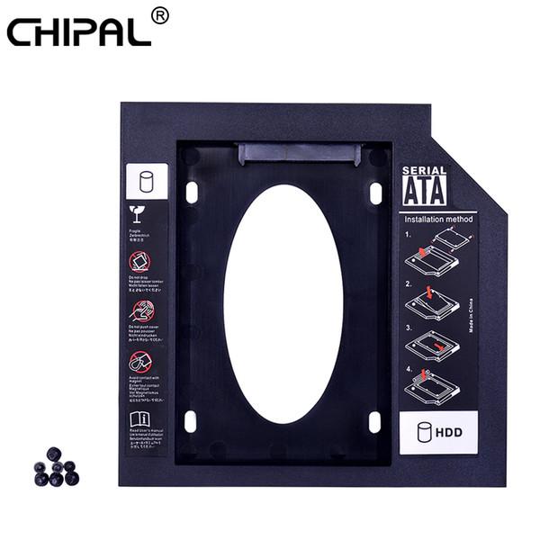 CHIPAL 50pcs Universale Secondo 2 ° HDD Caddy 9.5mm SATA 3.0 2.5 '' SSD Contenitore per disco rigido Custodia per laptop ODD DVD-ROM
