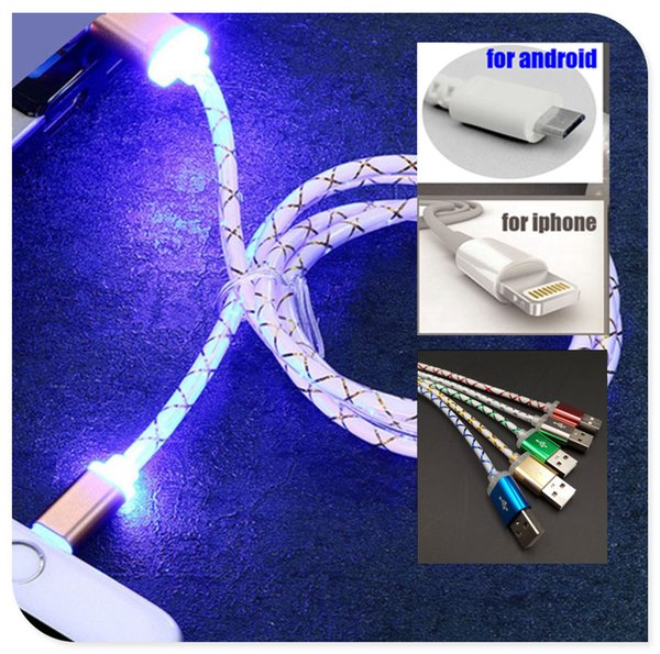 Light-up LED USB Data Sync Charger Cable Charging Cord For Android Phone Universal For Home Car Cell Phone