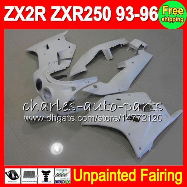 8Gifts Unpainted Full Fairing Kit For KAWASAKI NINJA ZX-2R ZXR-250 93-96 ZX2R ZXR250 2R 93 94 95 96 1993 1995 1996 Fairings Bodywork Body