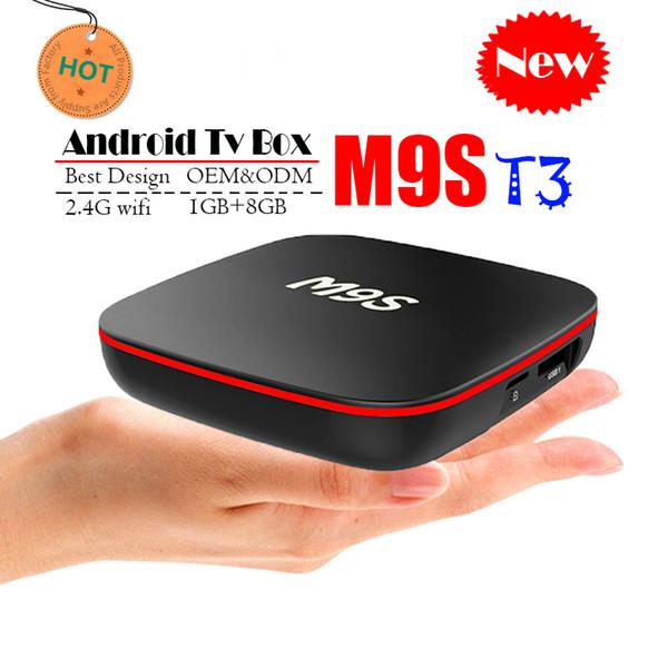 Best M9S T3 Allwinner H3 1G 8G Android 7.1 TV BOX Quad Core Ultra HD H.265 4K Stream Media Player Better Amlogic S905W H96 TX3 HK1 T95 S1