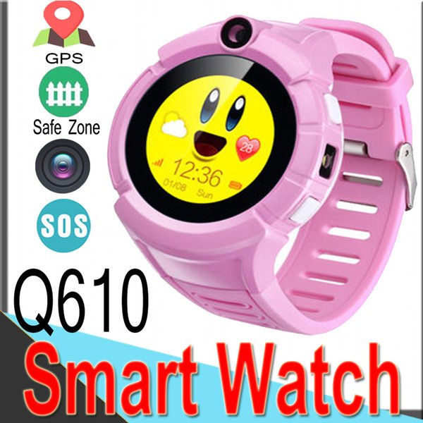 Q610 Smart Watch nemico Kid Bambini Orologio da polso GSM GPRS Localizzatore GPS Tracker Anti-Lost Smart watch Protezione bambini Touch Screen A1 Z6