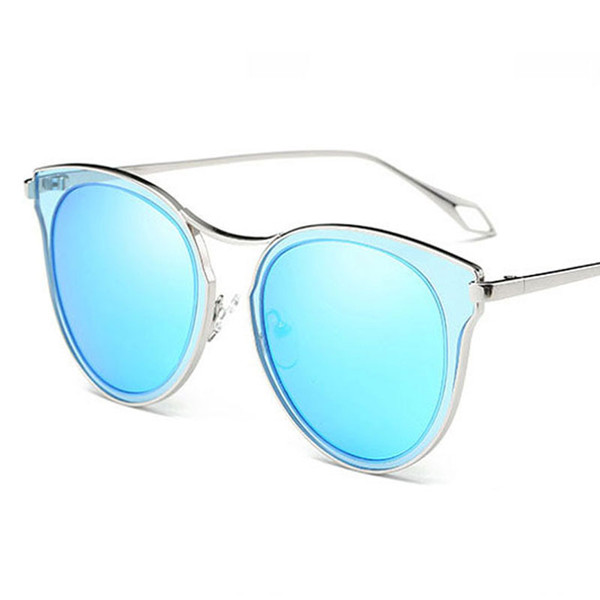 Summer Women round sunglasses ladies metal vintage eyewear brand designer fashion women Polarized sunglasses for party beach and shopping