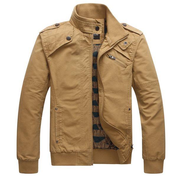 2018 Novos Casacos dos homens Outono Casuais Tactical Coats Slim Fit Masculino Bomber Jacket Mens Top Marca de Roupas