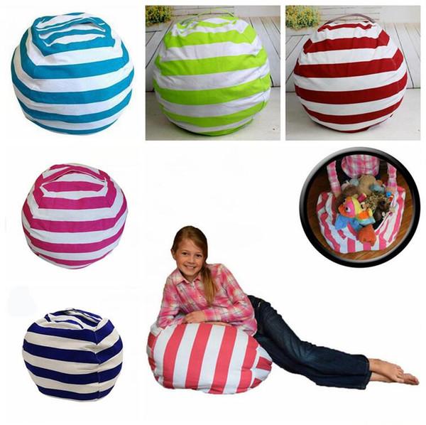 16 Inch Kids Storage Bean Bags Plush Toys Beanbag Chair Bedroom Stuffed Animal Room Mats Portable Clothes Storage Bag 10pcs OOA4434