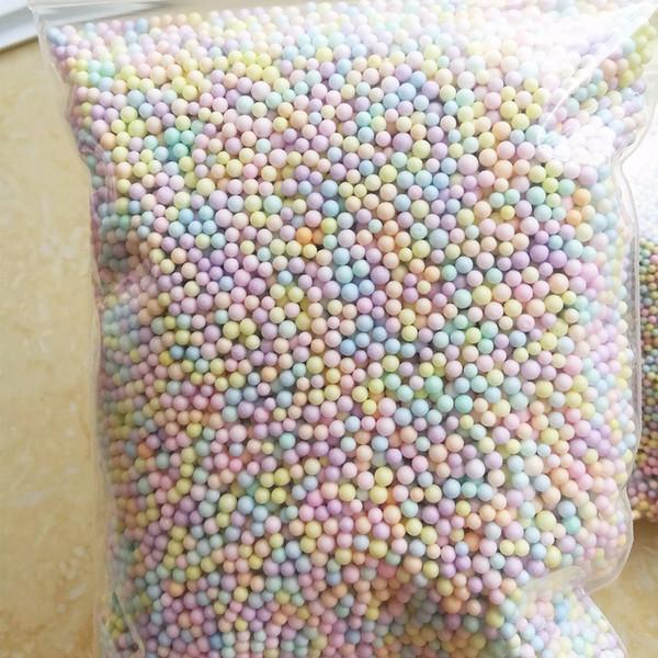 250g/bag Macarons Light Colors Pastel Foam Beads Colorful Polystyrene Foam Balls Styrofoam Mini Floam Beads Balls Crafts