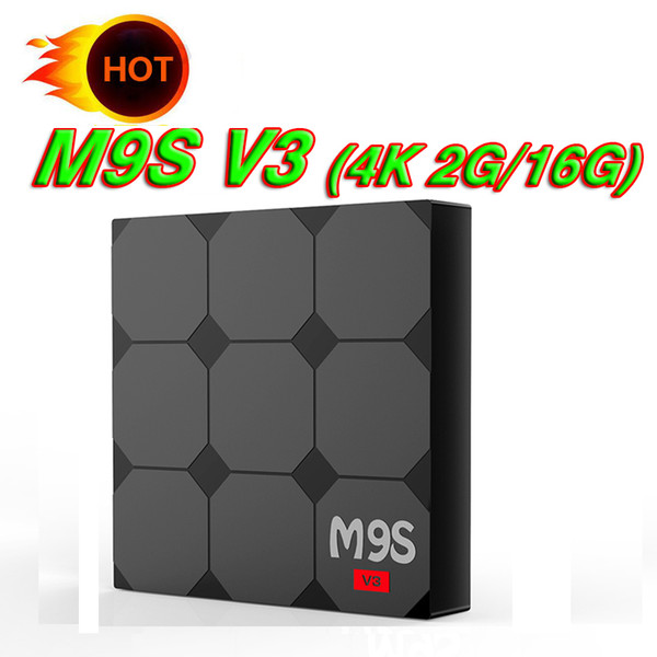 Exclusive TV Box M9S V3 Android 6.0 2GB 16GB RK3229 Quad Core With V3 V5 Ultra HD HDMI Wifi 4K Streaming Boxes Better X96 Mini S905W