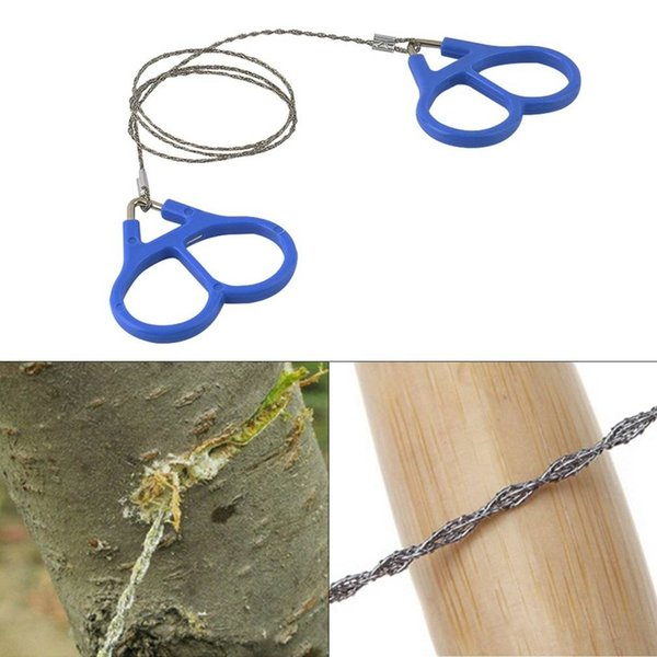 10pcs/lot Outddor New Hiking Camping Stainless Steel Wire Saw Emergency Travel Survival Gear Tent camping accessories