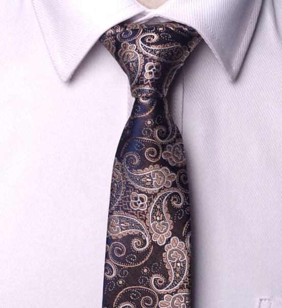 Homens laços gravata dos homens vestidos de negócios gravata de casamento Vestido Masculino legame gravata Inglaterra Listras JACQUARD TECIDO 6 cm