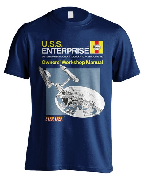 Star Trek Haynes Kurumsal Kullanım Lisanslı Tee T-Shirt Erkekler
