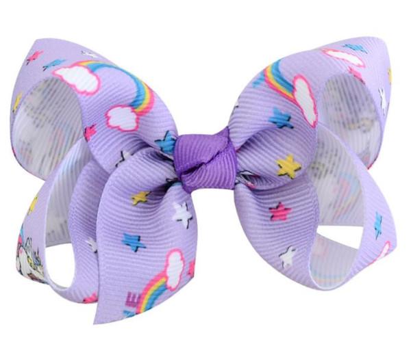 8cm small size hot unicorn design Hair Clip Bows Hair Bow girls Hairpins kids Hair Accessory Headwear