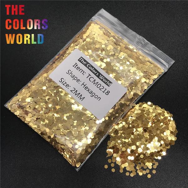 TCM0218 Gold Color Metallic Luster Hexagon Shape Nail Glitter Nail Art Decoration Makeup Face Paint Henna Handwork Material DIY