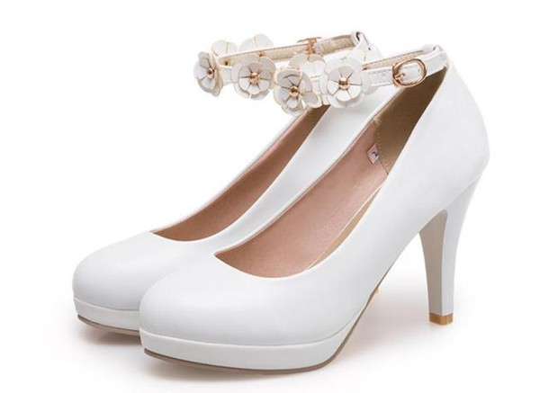 Free send Hot 2018 spring new style Korean Fine heel heel high shoes female round head waterproof table single shoes