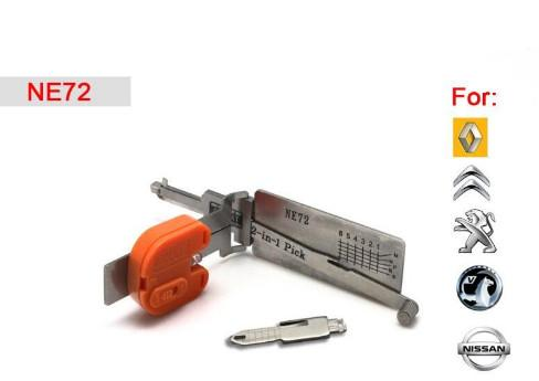 best selling Car locksmith tool Smart NE72 2 in 1 auto pick and decoder for Peugeot Citroen nissan renault
