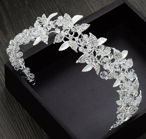 Bridal crown ornament 2018 new handmade crystal luxurious hairdressing wedding dress photo studio accessories