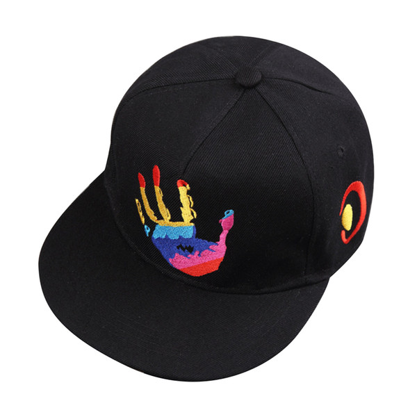 Berretti da baseball stampati Palm Snap Hip Hop Ricamo Snapback Cappelli Estate Sun Rock Rap Street Dance Cap per uomo Donna Bambino regolabile